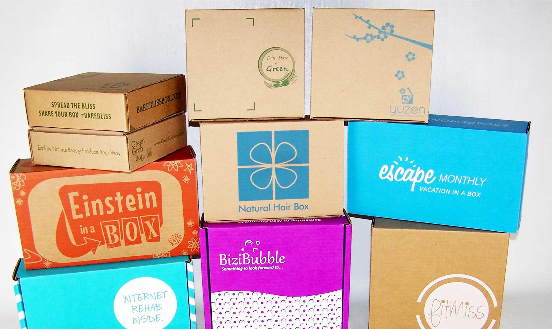 Cajas de suscripción: productos y servicio en paquetes